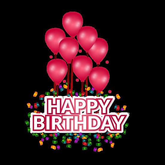 Happy Birthday Wondrous Clipart - PNG Transparent Image - Digital Download