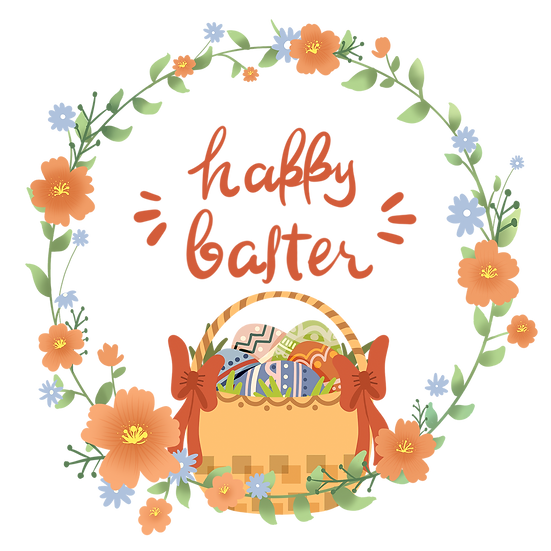 Happy Easter Amazing Greeting Card - PNG Transparent Image - Instant Download
