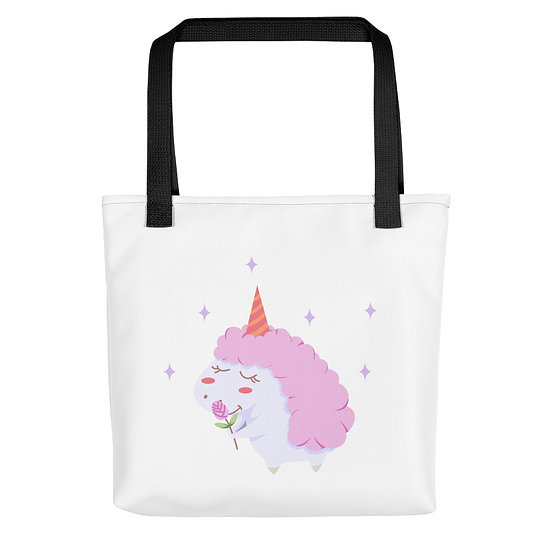 Lovely Curly Unicorn Tote bag