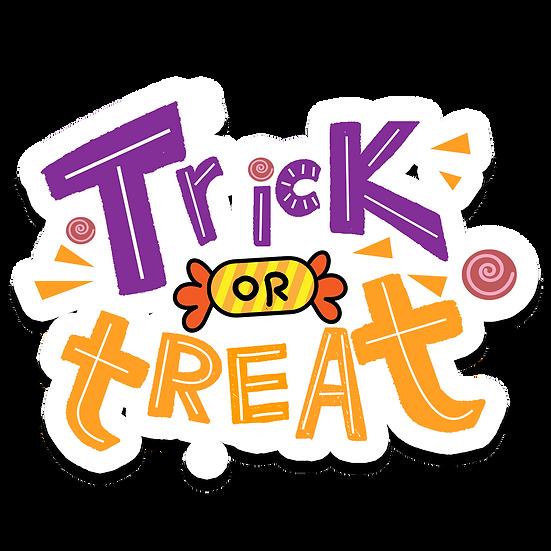 Trick or Treat Inscription Printables PNG Image  - Editable / Downloadable