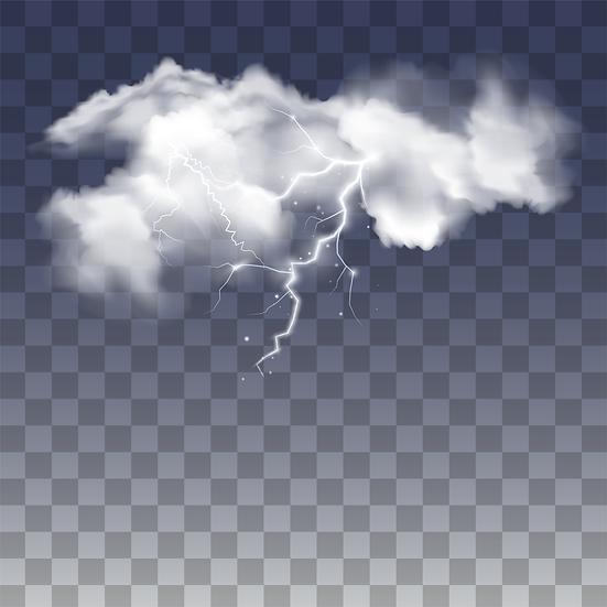 Realistic Storm Rain Clouds - Free PNG Images, Digital Download