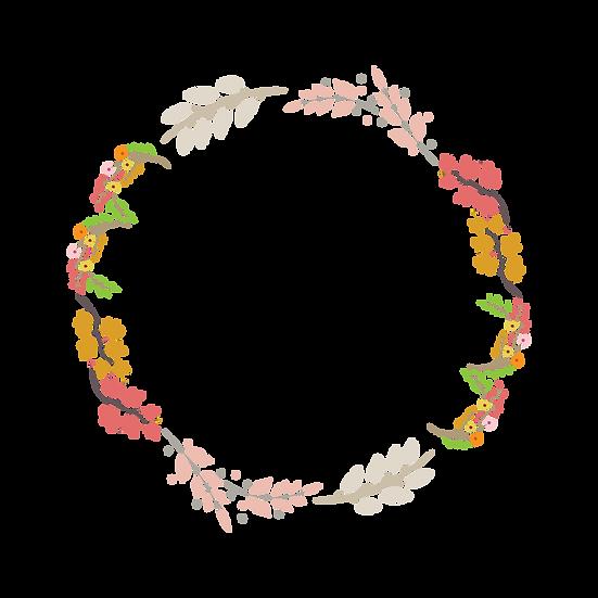 Botanical Circle Wreath - Free PNG Images, Transparent Image Digital Download