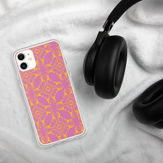 Pink & Yellow Mandala iPhone Cases1