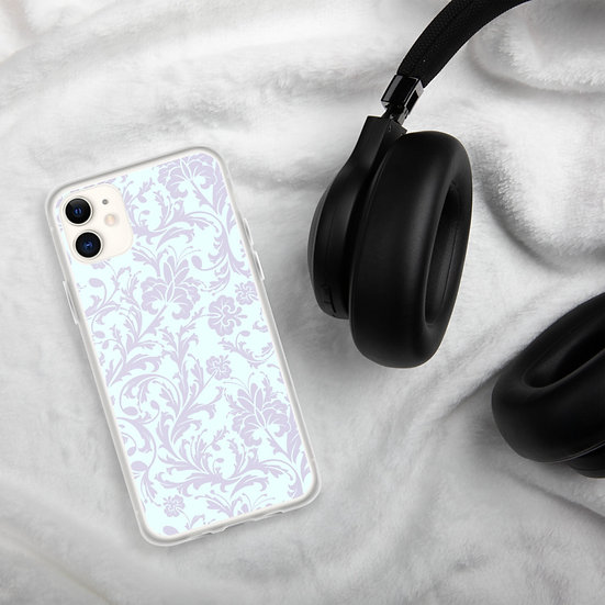 White Flowers Clear iPhone Cases1