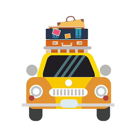 Travel Car with Baggage - Free PNG Car Image, Transparent Image Instant Download