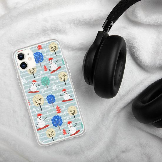 Happy Snowman iPhone Cases1