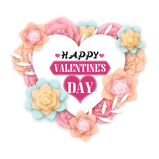 Greeting Card Happy Valentine's Day PNG Transparent Image - Instant Download