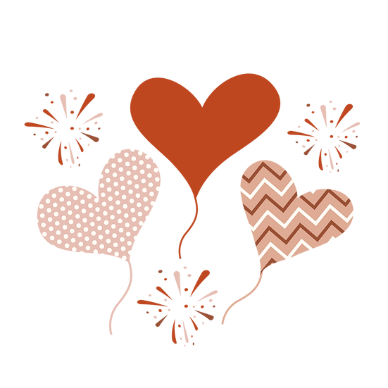 Amazing Hearts Clipart - Valentine's Day PNG Transparent Image, Instant Download