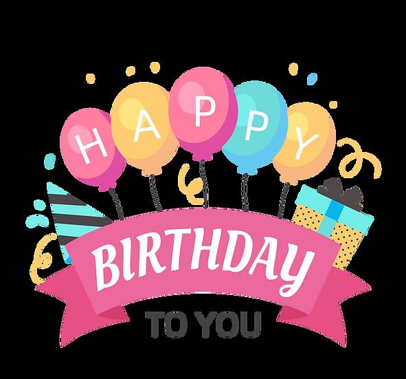 Beautiful Birthday Greeting Card - PNG Transparent Image - Digital Download