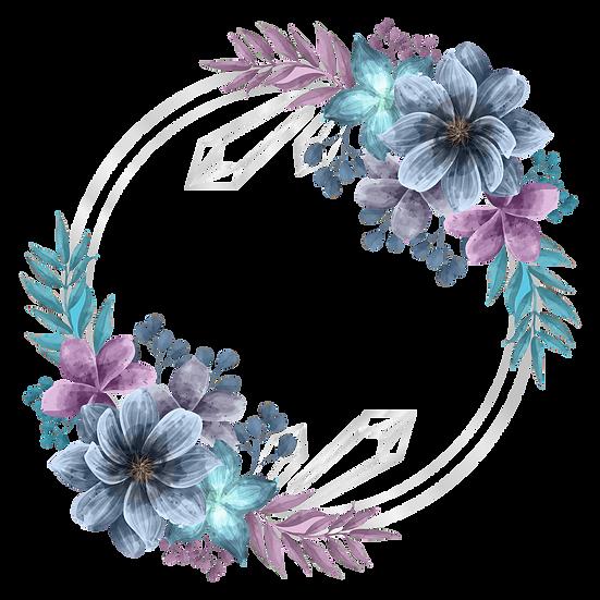 Vintage Floral Circle Clipart - Free PNG Transparent Image, Digital Download