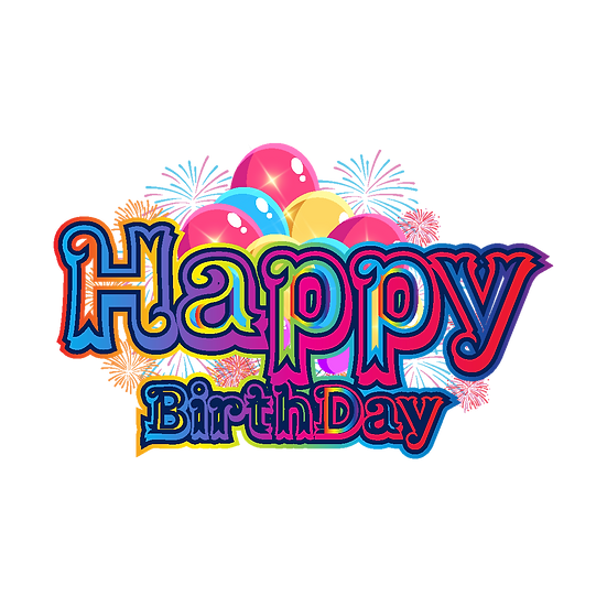Happy Birthday Lively Clipart - PNG Transparent Image - Digital Download