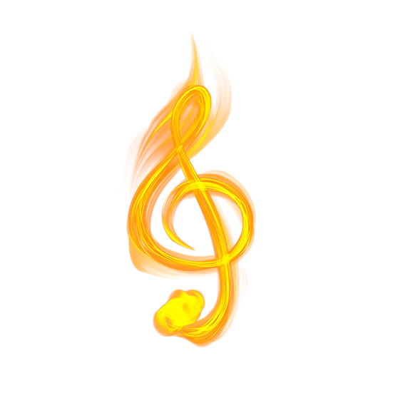 Music Note on Fire - Free PNG Images, Transparent Image Instant Download