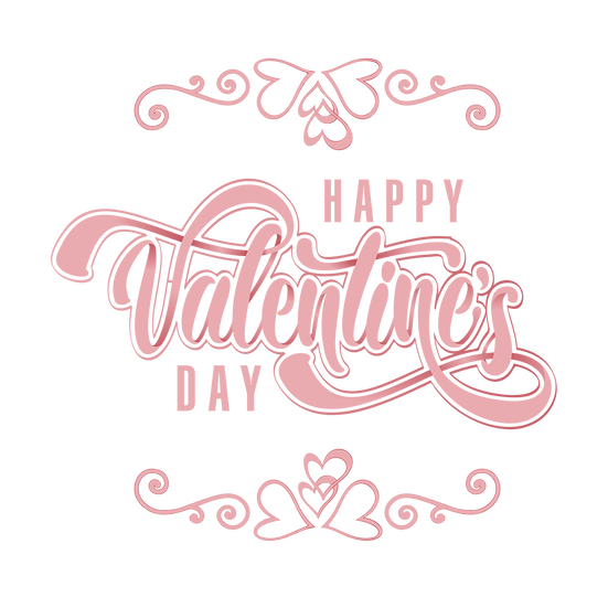 Happy Valentine's Day Awesome Clipart - PNG Transparent Image - Instant Download