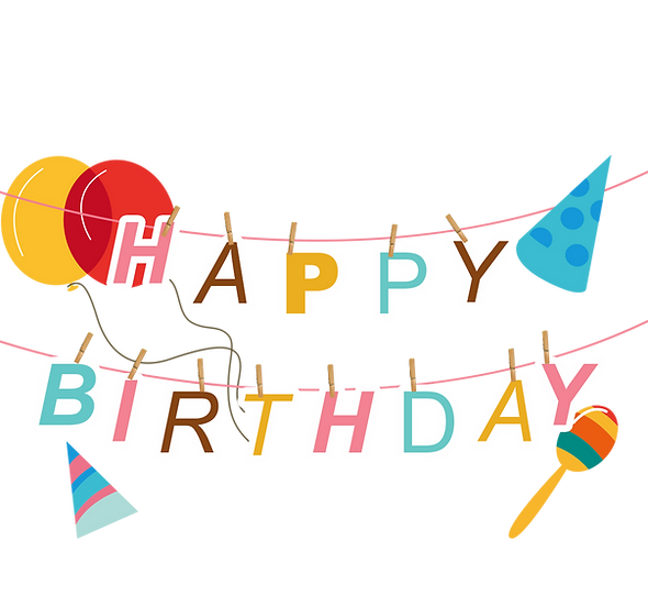 Incredible Birthday Clipart - PNG Transparent Image - Digital Download
