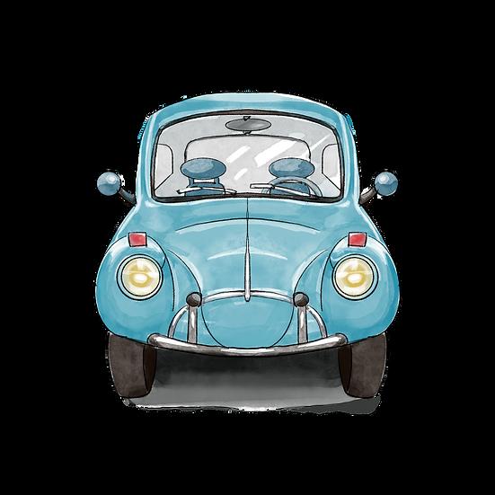 Hand Drawn Retro Car - Free PNG Images, Transparent Image Digital Download