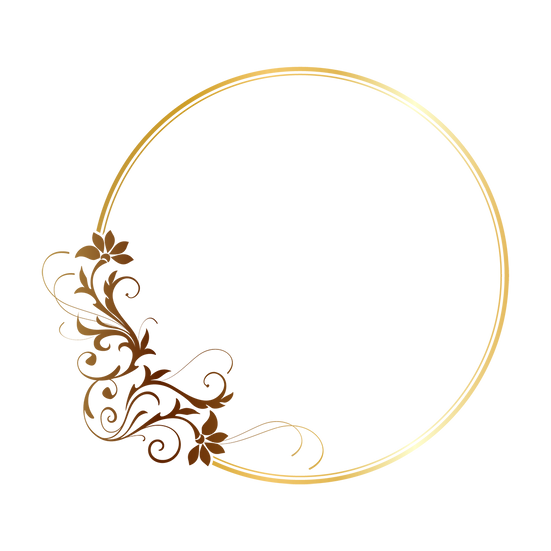 Beautiful Golden Circle - Free PNG Images, Transparent Image Instant Download