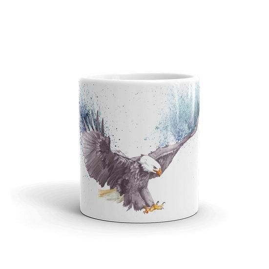 Watercolor American Eagle Coffee Cup Mug for Coffee / Tea White Ceramic Mugs1