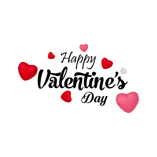 Happy Valentine's Day PNG Transparent Image - Instant Download