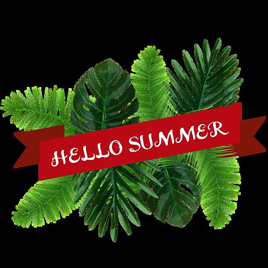 Hello Summer Botanical Clipart - Free PNGTransparent Images, Digital Download