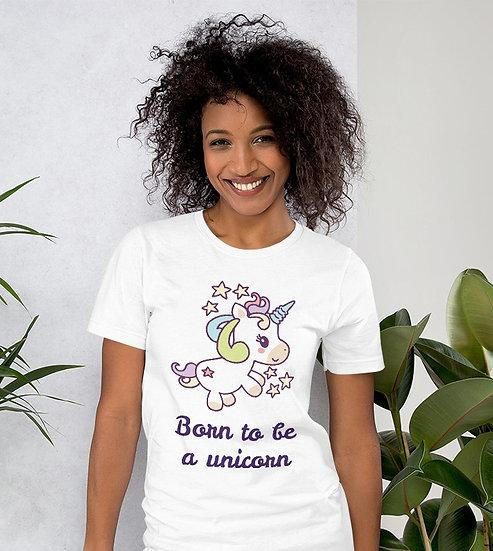 Born to Be a Unicorn Design Short-Sleeve Women's T-Shirt