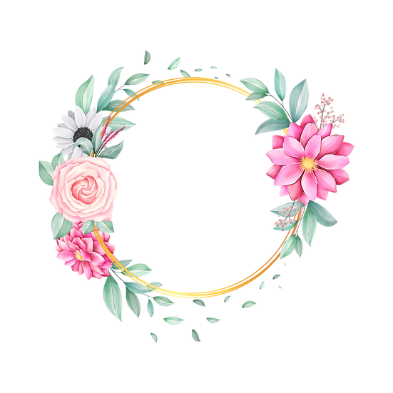 Watercolor Floral Circle - Free PNG Images, Transparent Image Instant Download