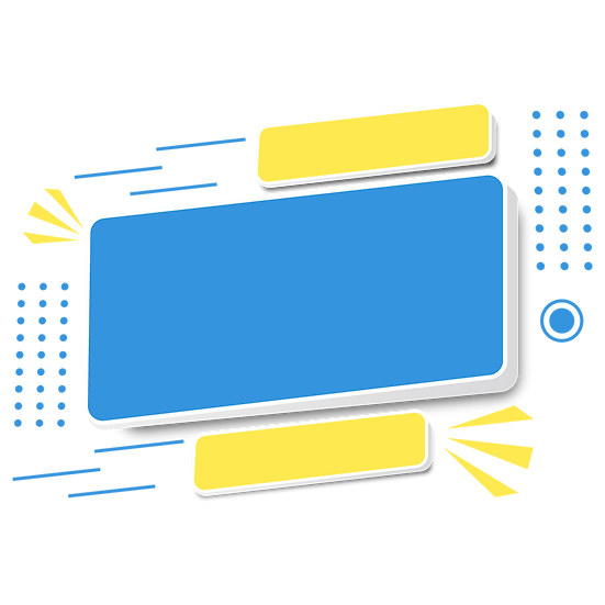 Cute Yellow and Blue Banner - Free PNG Image, Transparent Image Digital Download
