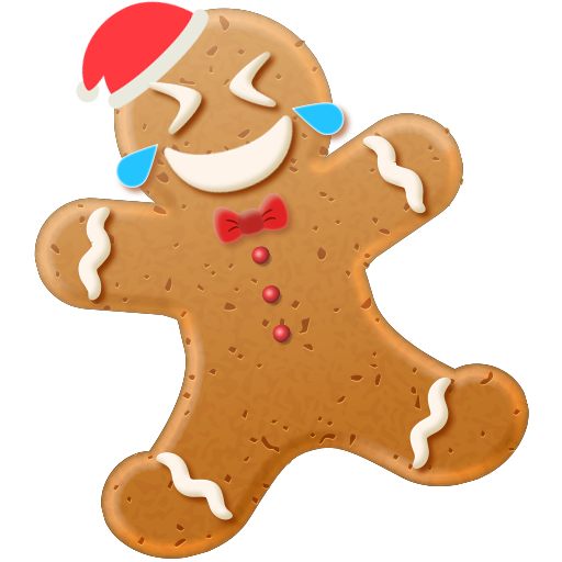 Happy Christmas Gingerbread Man Free PNG Images - Free Digital Image Download