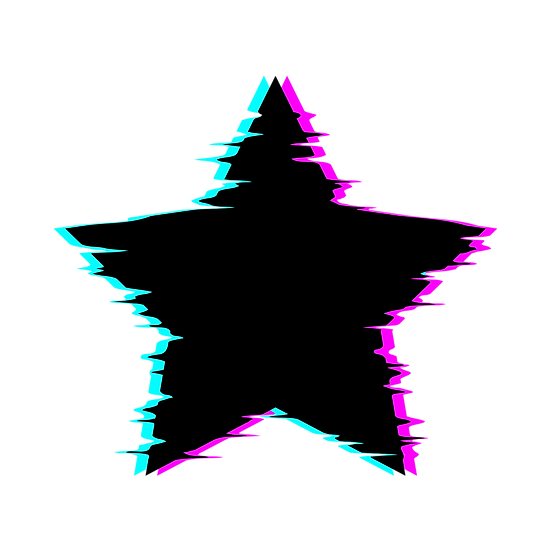 Glitch Star Clipart - Free PNG Images, Transparent Image Instant Download