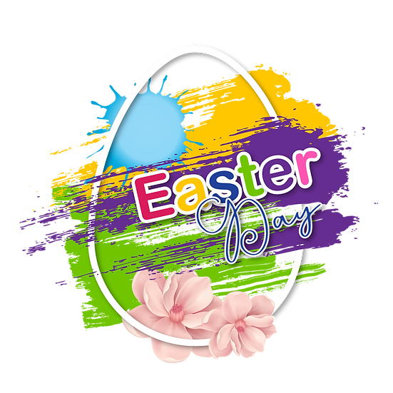 Easter Day Egg Colorful Clipart - PNG Transparent Image - Instant Download