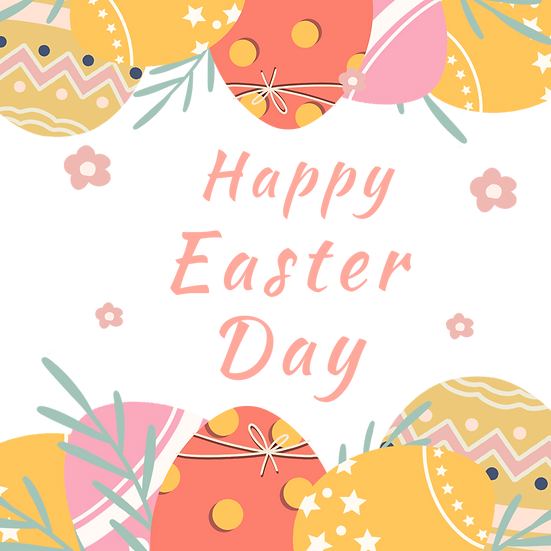Easter Day Incredible Greeting Card - PNG Transparent Image - Instant Download