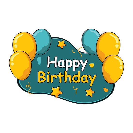Awesome Birthday Clipart - PNG Transparent Image - Digital Download