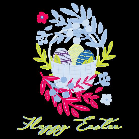 Wonderful Easter Greeting Card - PNG Transparent Image - Instant Download