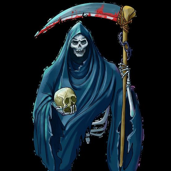 Halloween Death Printables PNG Image  - Editable / Downloadable