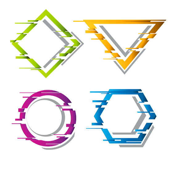 Geometric Vector Banners - Free PNG Images, Transparent Image Instant Download