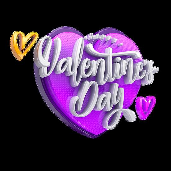 Valentine's Day 3D PNG Transparent Image - Instant Download