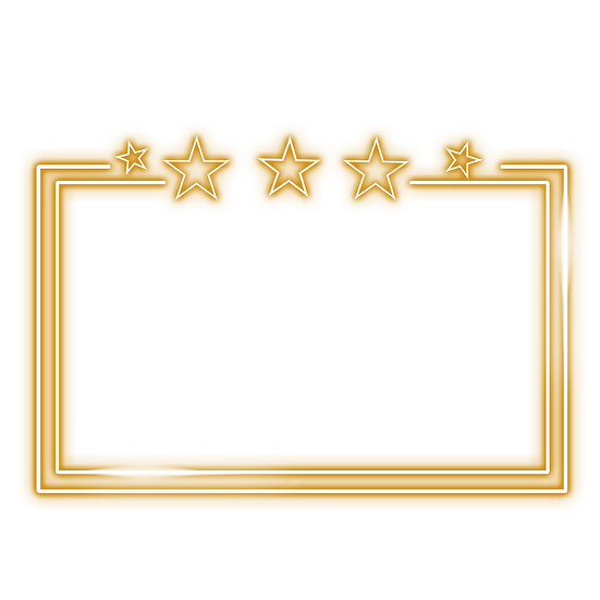 Stars Frame with Light Effect - Free PNGTransparent Image, Instant Download