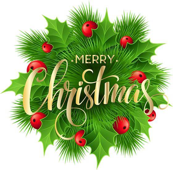 Merry Christmas Gold Inscription Free PNG Images - Free Digital Image Download