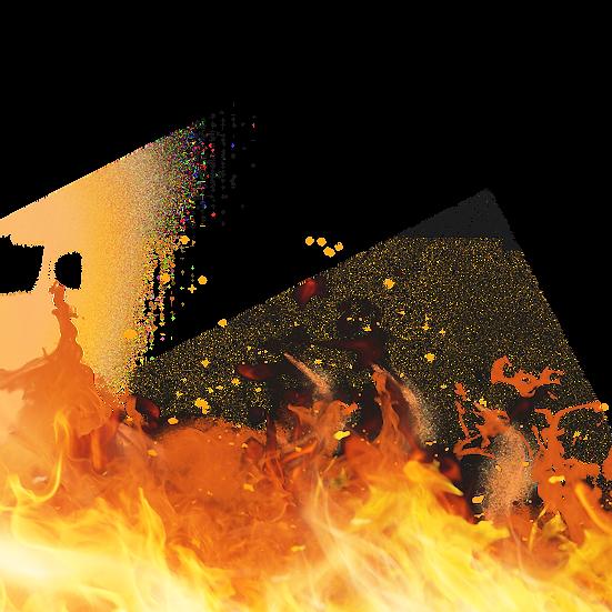 Burning Orange Flame - Free PNG Fire Images, Transparent Image Instant Download