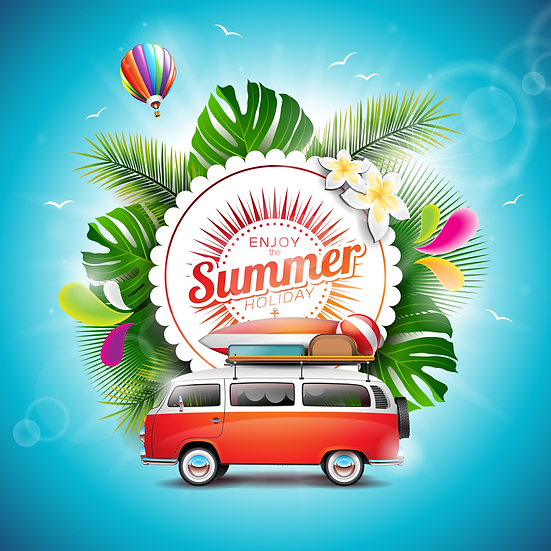 Wonderful Summer Greeting Card - Free Summer PNG Images, Instant Download