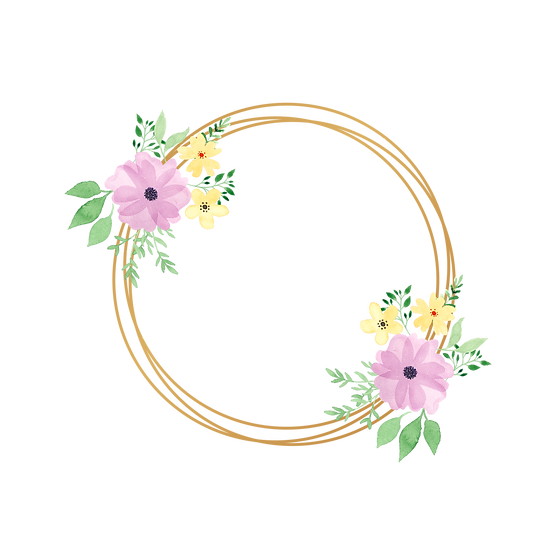Cute Circle with Flowers - Free PNG Images, Transparent Image Instant Download