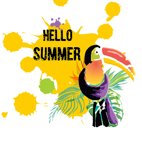 Hello Summer Toucan Free PNG Images - Free Digital Image Download