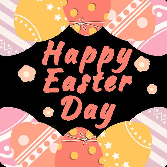 Great Easter Greeting Card - Easter PNG Transparent Image - Instant Download