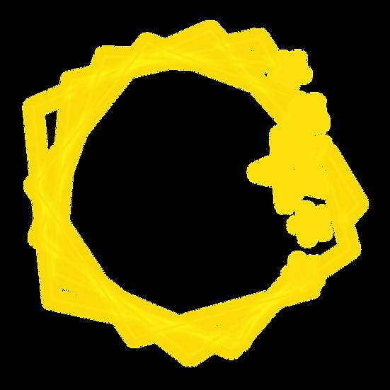 Golden Light Effect Star Frame - Free PNG Transparent Image, Instant Download