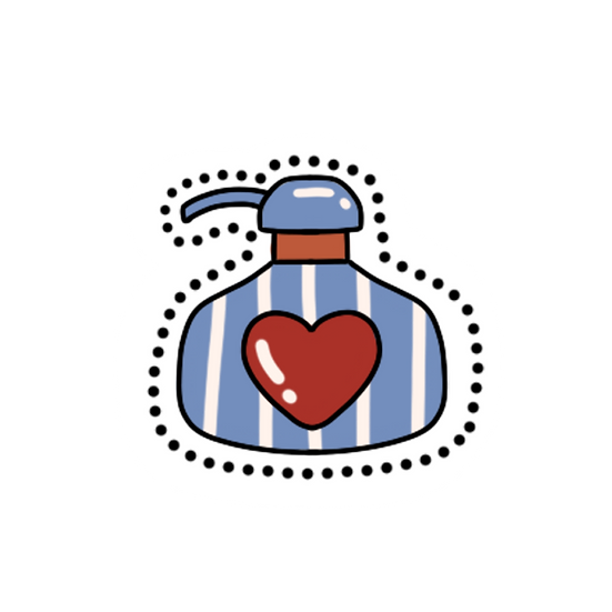 Love Perfume Clipart - Valentine's Day PNG Transparent Image - Instant Download