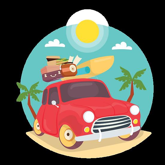 Summer Vacation Clipart - Free PNG Images, Transparent Image Digital Download