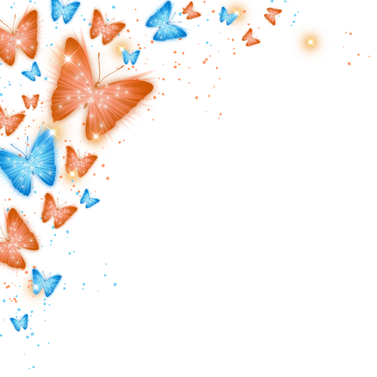 Shining Butterflies - Free PNG Images, Transparent Image Digital Download