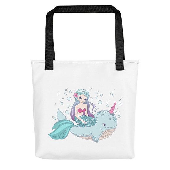 Dolphin Unicorn and Mermaid Tote bag