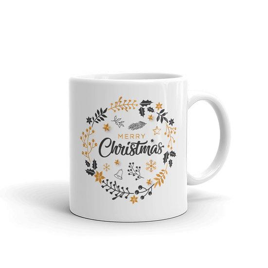Christmas Time is Here Mug for Coffee / Tea, White Ceramic