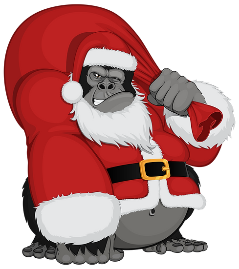 Cocky Monkey as Santa Claus Free PNG Images - Free Digital Image Download