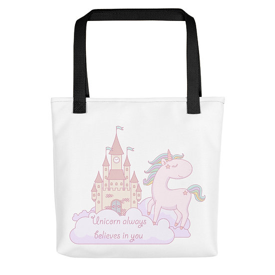 Unicorn Believes in You Tote bag